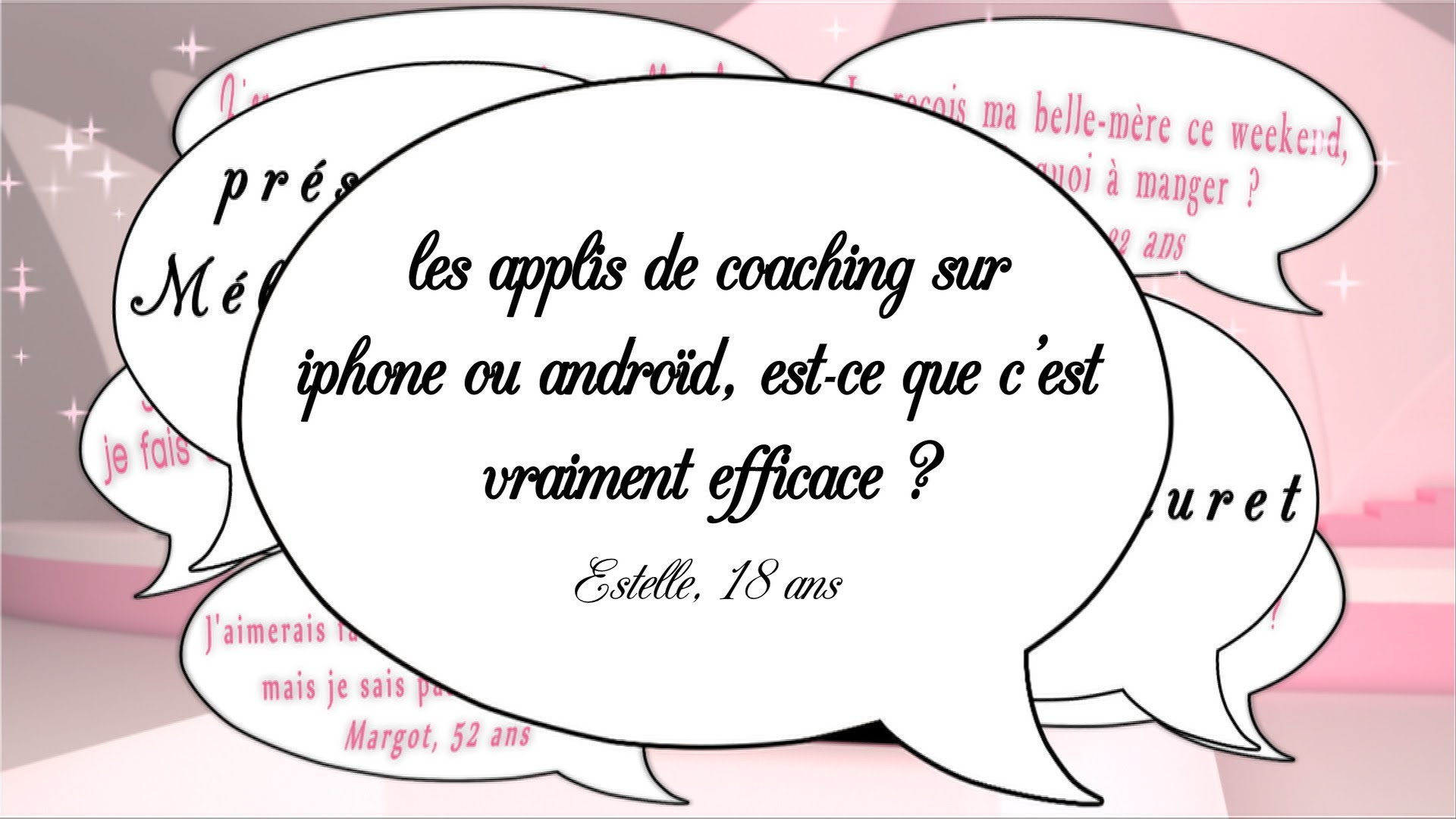 Des apps coaching ?