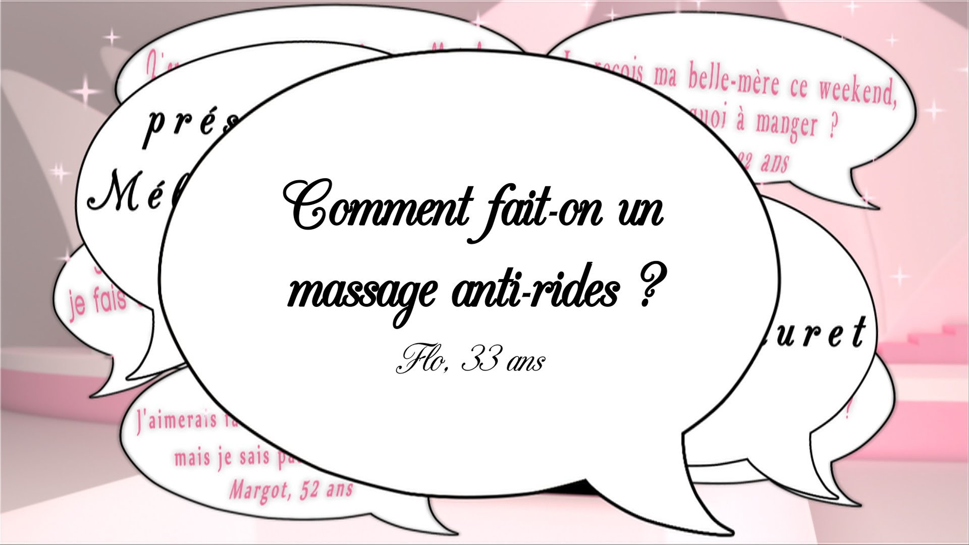 Le massage anti rides