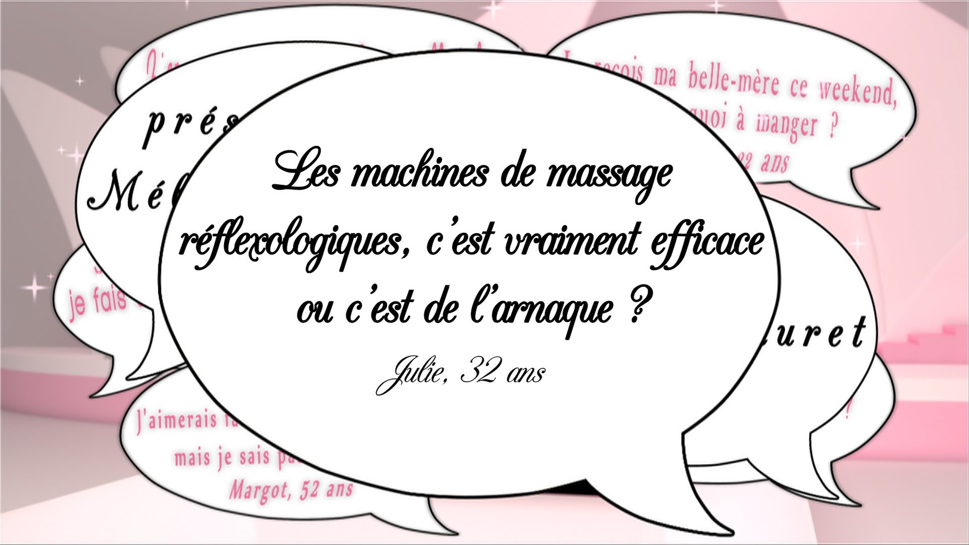 Les machines de massages