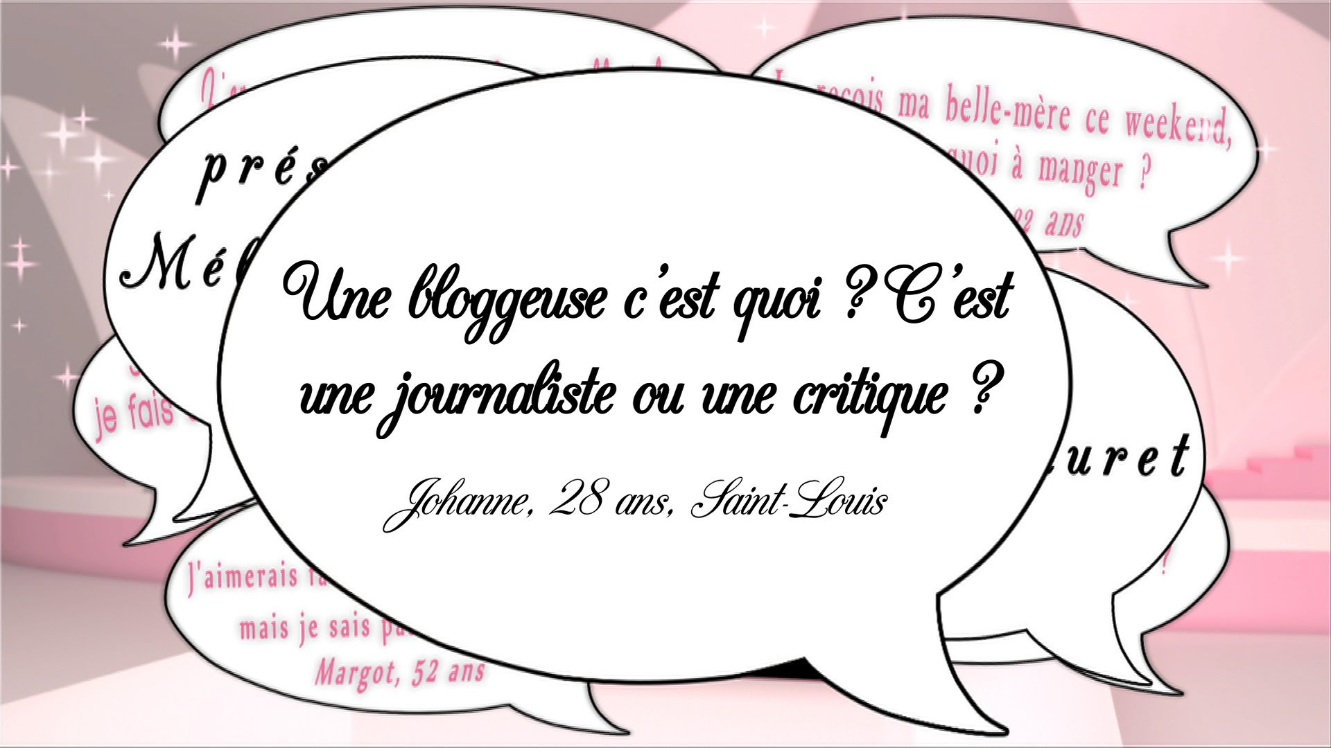 Une bloggeuse, journaliste ou critique ?